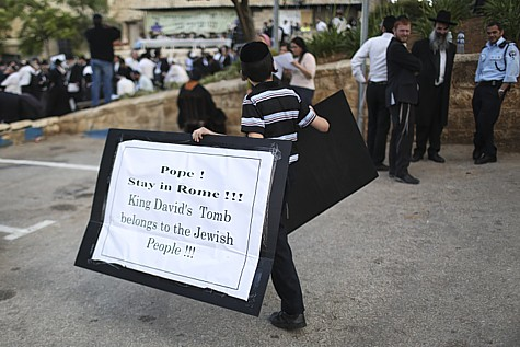 King David Tomb Protest 1