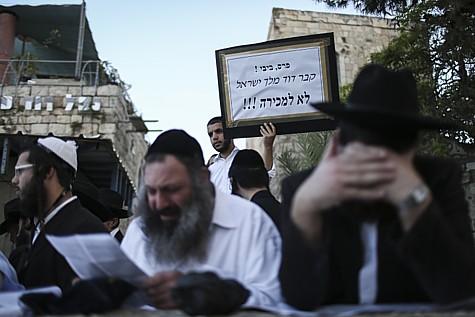 King David Tomb Protest 4