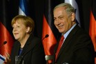 German Chancellor Angela Merkel and PM Netanyahu at the King David hotel in Jerusalem on February 25, 2014.
