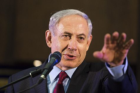 PM Netanyahu speaking during Jerusalem Day celebrations