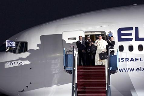 Pope Sderot El Al plane