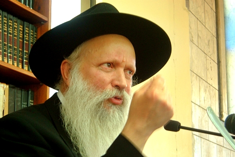 Rabbi Yitzchak Ginsburgh, dean of the Yitzhar Yeshivah