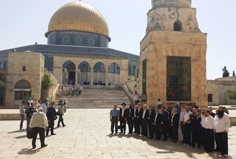Rabbis at the Temple Mount.