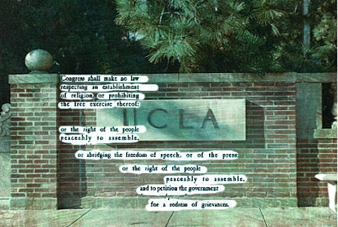 What's happening to the First Amendment at UCLA?