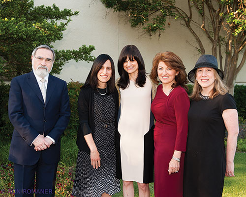 (L-R) Rabbi Sacks; Miriam Tannenbaum; Dina Ravitsky; Ruthy Rosenberg; and Marilyn Rutner.