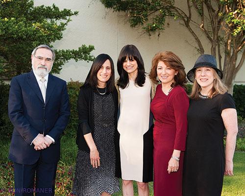 (L-R) Rabbi Sacks; Miriam Tannenbaum; Dina Ravitsky; Ruthy Rosenberg; and Marilyn Rutner.