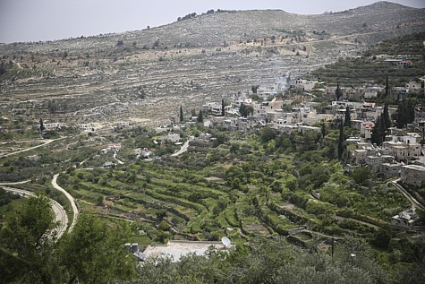 The illegal Arab settlement of Battir, built on the ruins of Jewish Betar.