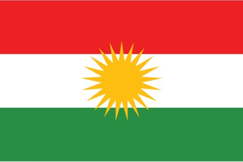 The flag of Iraqi Kurdistan