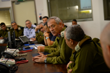 Chief of Staff Gantz during an update.