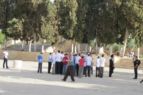 Jews visiting the grounds of the Temple Mount
