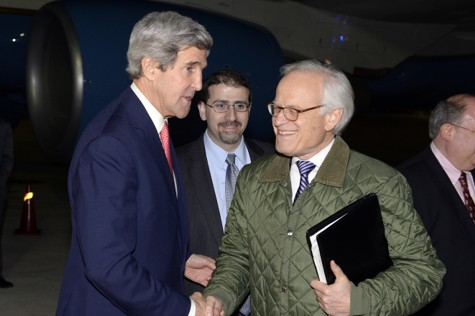 John Kerry, Dan Shapiro and Martin Indyk