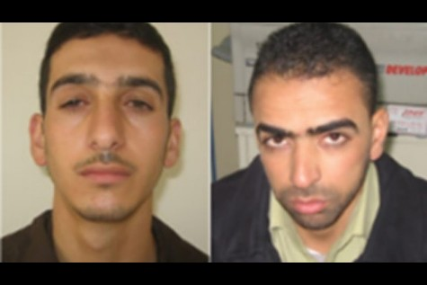 Marwan Kawasme (left) and Amar Abu Aisha from Hebron are believed to be the Hamas terrorists who kidnapped and murdered Eyal Yifrach, Gilad Shaar and Naftali Frenkel.