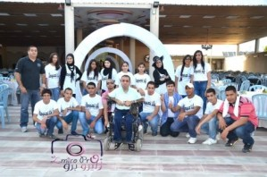 Nawaf and his team of volunteers who organised the fundraiser for Beit Issie Shapiro.