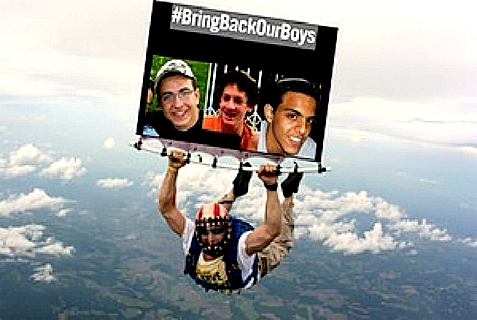 "Skydiving to raise awareness and funds to #BringBackOurBoys, called ""Jump for Our Boys"""