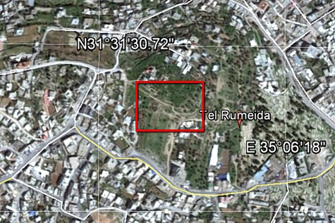 Tel Hebron on Map