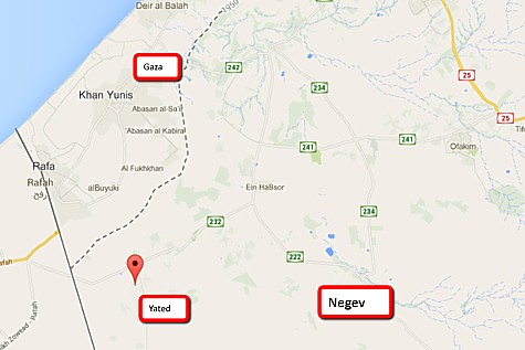 Town of Yated in the Negev