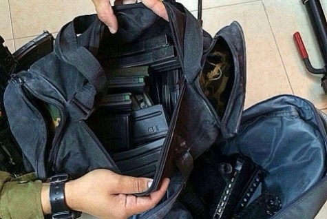 Multi-bullet magazines for automatic guns seized by the IDF June 16, 2104 in Nablus, while searching for the Kidnapped Boys.
