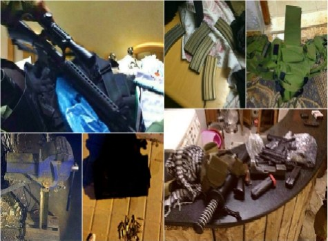 Still more munitions found by the IDF in the homes of Arabs discovered while searching for the Kidnapped Teenagers.