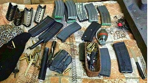 Weapons recovered by the IDF while searching Arabs' homes seeking to recover the Kidnapped Boys.