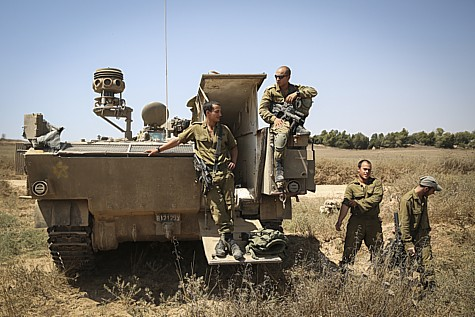 Six Golani soldiers were killed early Sunday morning when Hamas landmines blew up their APC east of Gaza City.