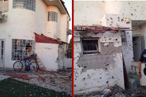 A home hot by a Gazan rocket.