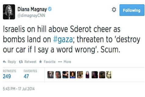 CNN's Diana Magnay deleted this tweet after sending it. Too late.