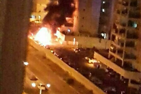 Car hit in Ashdod