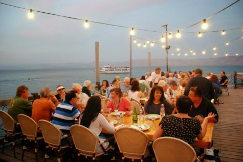 Group dinner at one of the finest restaurants, The Sea of Galilee.