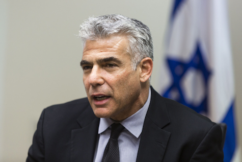 Yair Lapid, chairman of the Yesh Atid party.