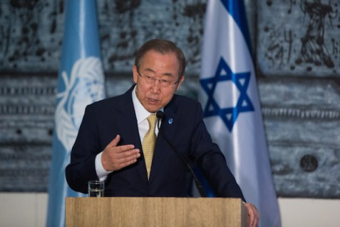 UN Secretary General Ban Ki Moon in Israel, July 23, 2014