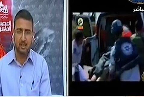 "Why is Hamas spokesman Abu Zuhri sitting in a TV studio instead of being a role model to ""lead our people to death"""