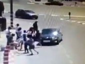 An Arab driver, driving into a group of Jews at a Gush Etzion bus stop.