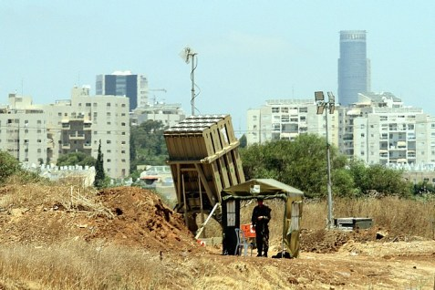 An Iron Dome Missile Battery near Tel Aviv on the first day of Operation Protective Edge, July 8, 2014.