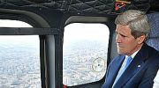 John Kerry up in the air and out of this world.