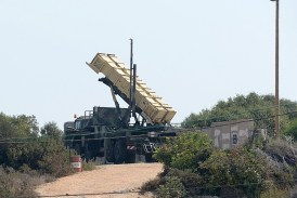 A Patriot Missile System in Israel