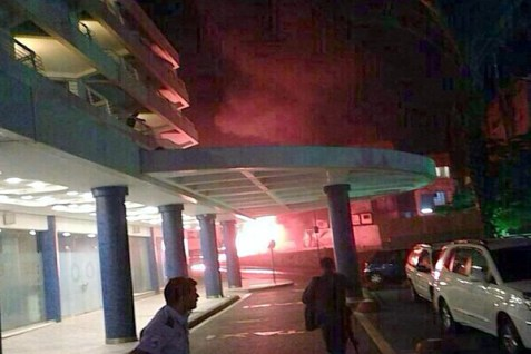 A rocket hit an Eilat hotel