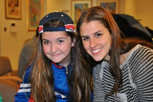 Little Sister Kaitlyn with her Big Sister, Hannah, at an art workshop of the JewishCare Big Brother and Big Sister program in Sydney, Australia.