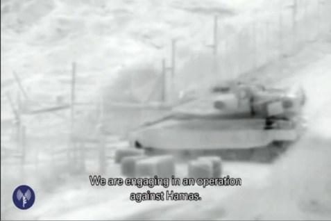 Tank entering Gaza