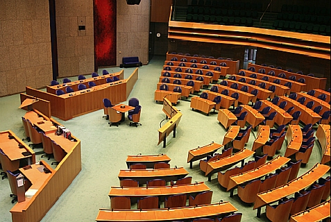 The Tweede Kamer, loosely translated as the House of Representatives, in the Dutch government.