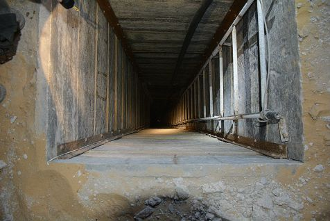 A terror tunnel entrance in Gaza.