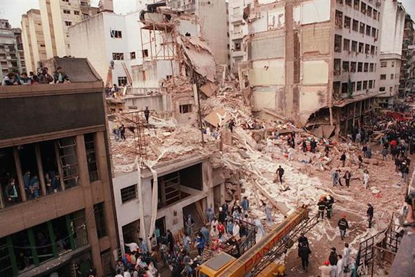 Aftermath of the AMIA bombing, July 18, 1994