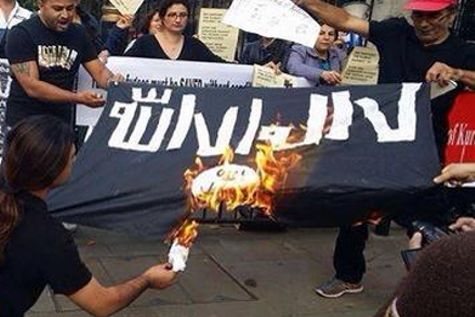 Burning ISIS Flag 2