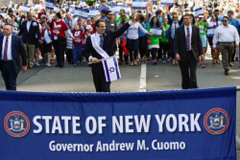 Gov. Cuomo in a pro-Israel march in New York.