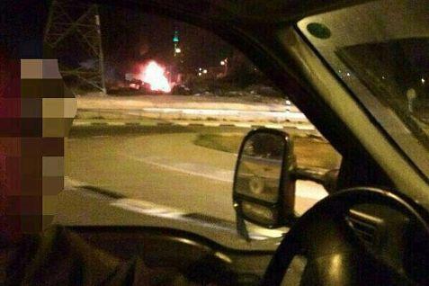 Firebombed car near Beitar