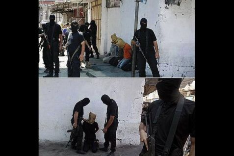 It is believed that this is a photo from the Friday afternoon execution outside a Gazan mosque. (Aug. 22, 2014)