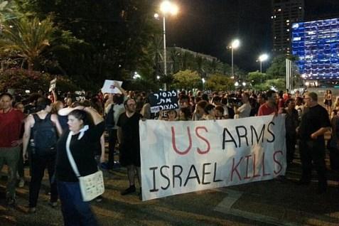 Left anti-self defense protest