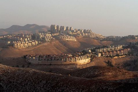 A bird's eye view of 60,000 Ma'ale Adumim. (archive, November 2013)