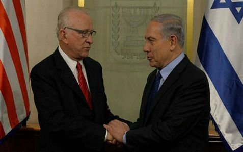 Netanyahu meets with Congressional House Armed Services Committee member Howard Buck McKeon.