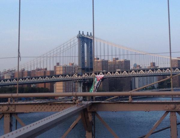 PA Flag on Brooklyn Bridge