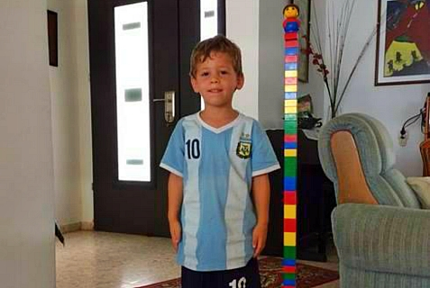 4 yr old Israeli Daniel Tregerman, murdered by Hamas rocket on Aug. 22, 2014.